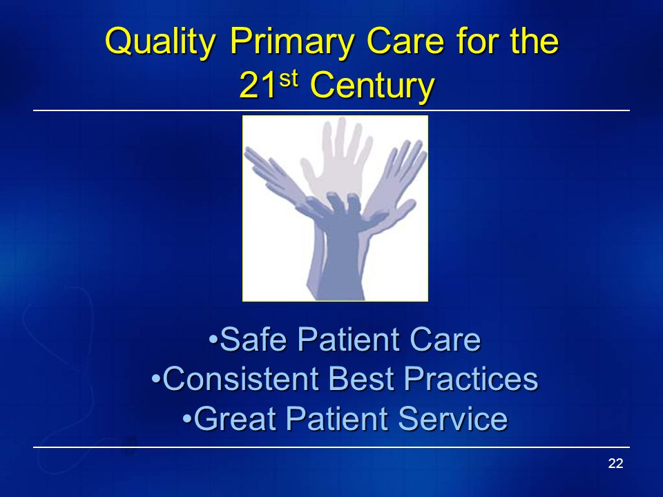Quality Primary Care for the 21st Century
