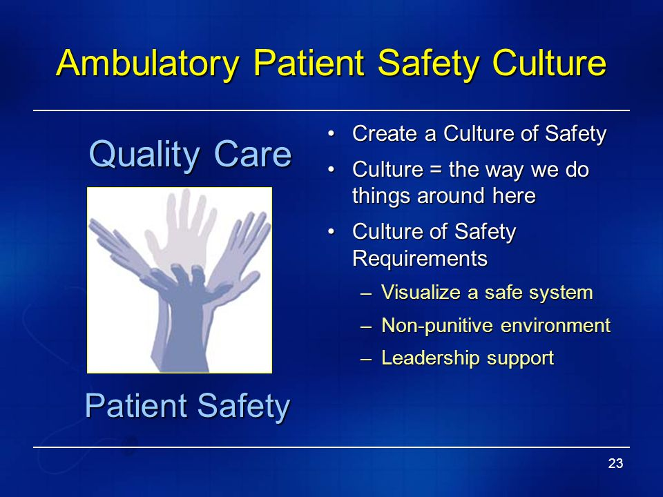 Ambulatory Patient Safety Culture