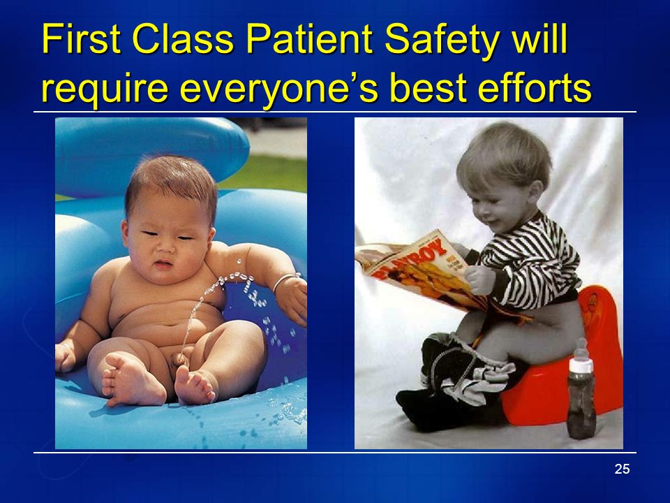 First Class Patient Safety will require everyone's best efforts