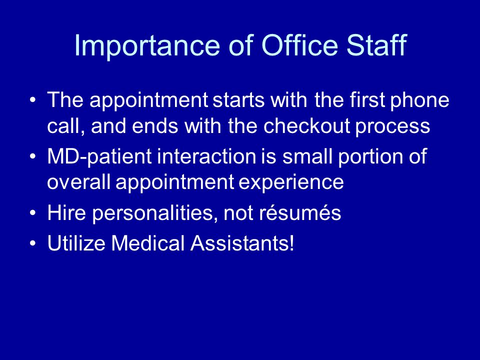 Importance of Office Staff