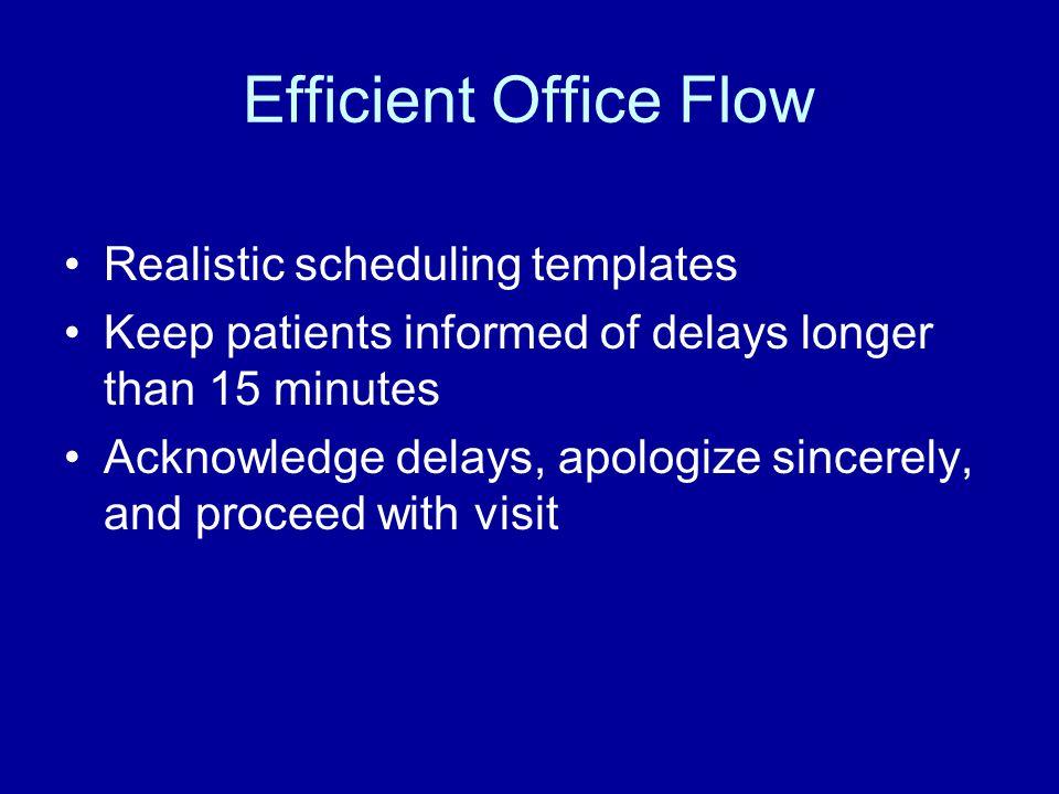 Efficient Office Flow Realistic scheduling templates