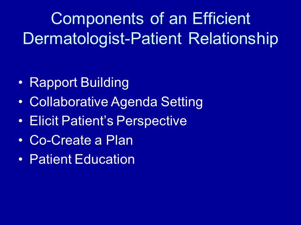 Components of an Efficient Dermatologist-Patient Relationship