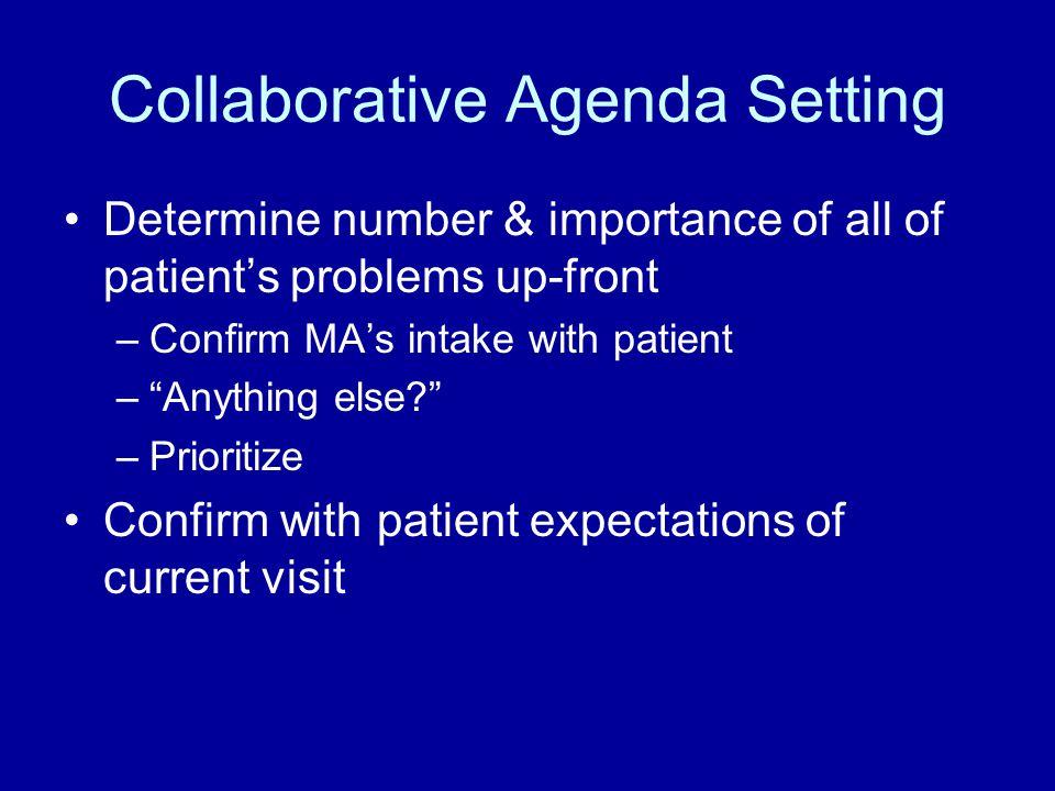 Collaborative Agenda Setting