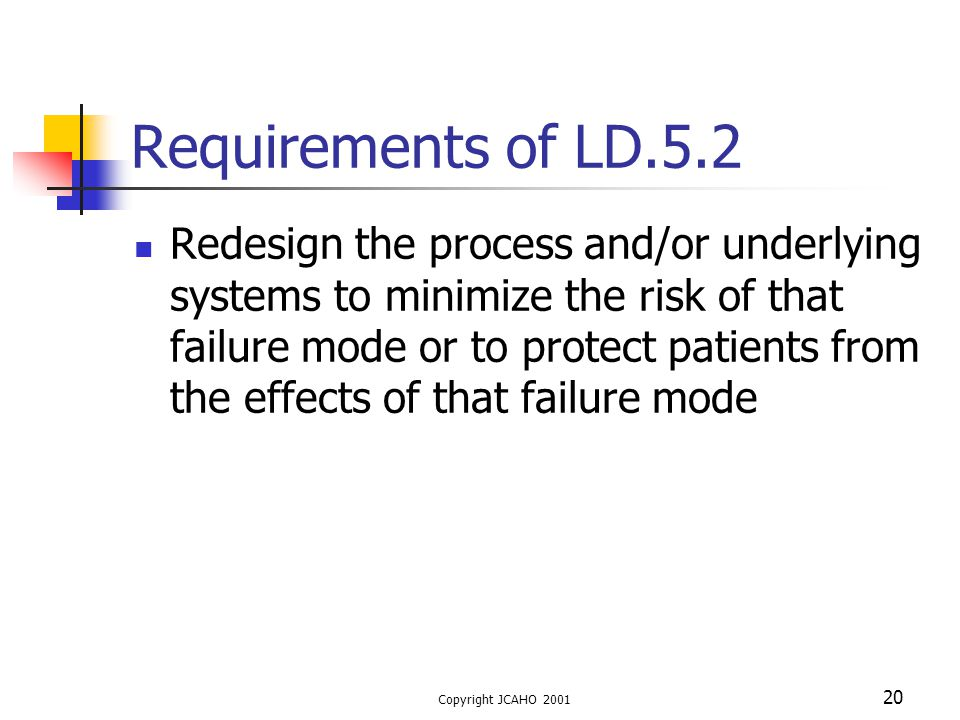 Requirements of LD.5.2
