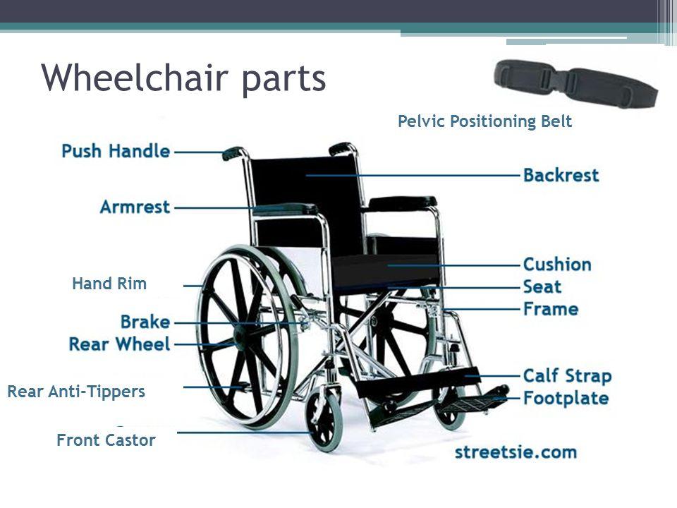 Wheelchair parts Pelvic Positioning Belt Hand Rim Rear Anti-Tippers