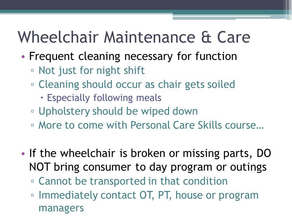 Wheelchair Maintenance & Care