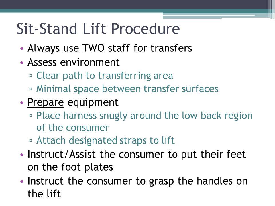 Sit-Stand Lift Procedure