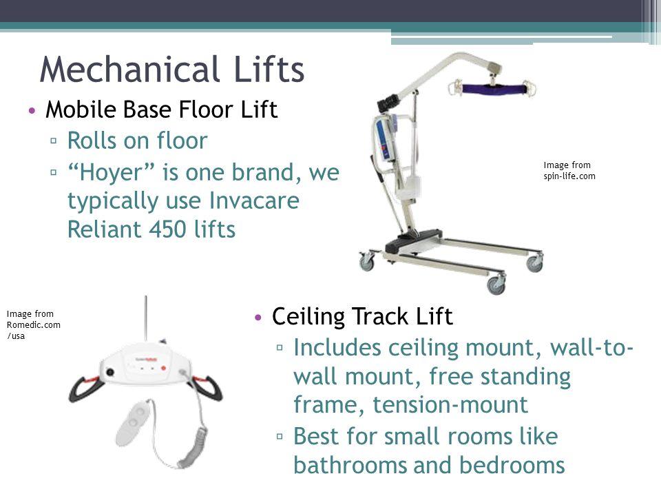 Mechanical Lifts Mobile Base Floor Lift Rolls on floor