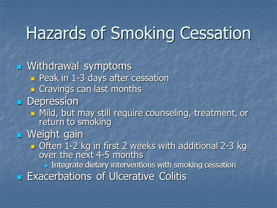 Hazards of Smoking Cessation