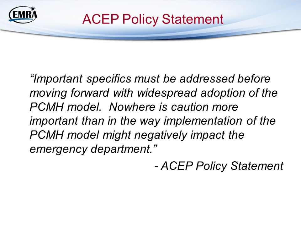 ACEP Policy Statement