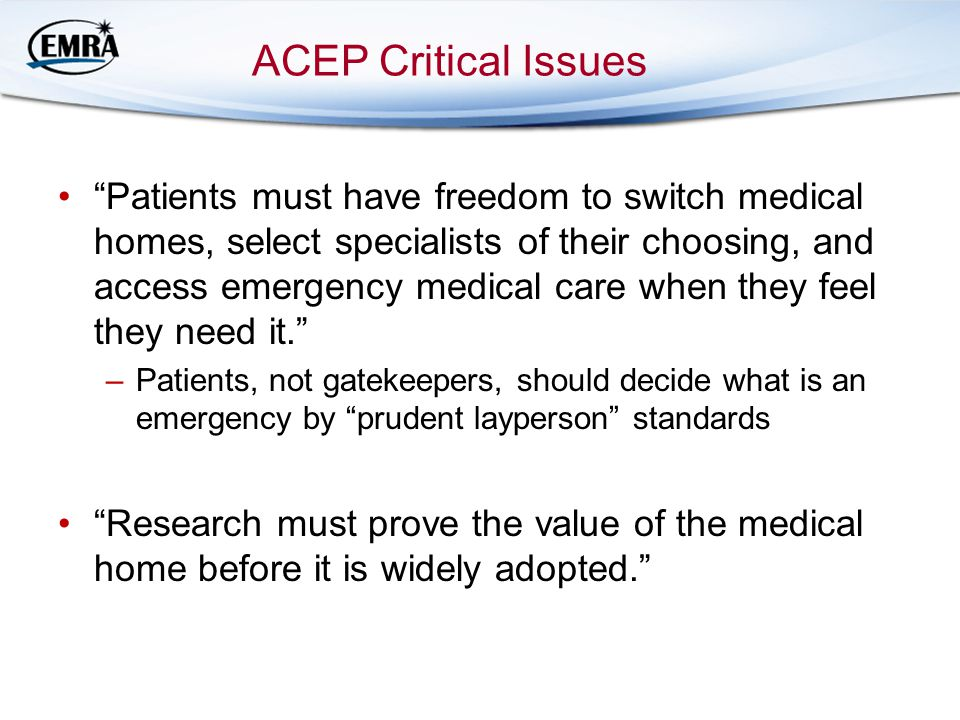 ACEP Critical Issues