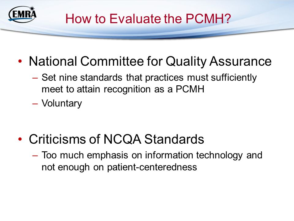 How to Evaluate the PCMH