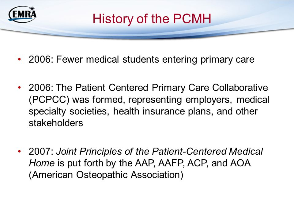 History of the PCMH 2006: Fewer medical students entering primary care