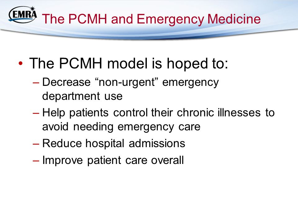 The PCMH and Emergency Medicine