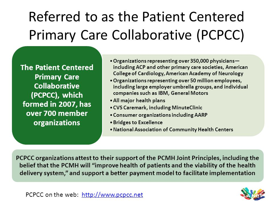 Referred to as the Patient Centered Primary Care Collaborative (PCPCC)