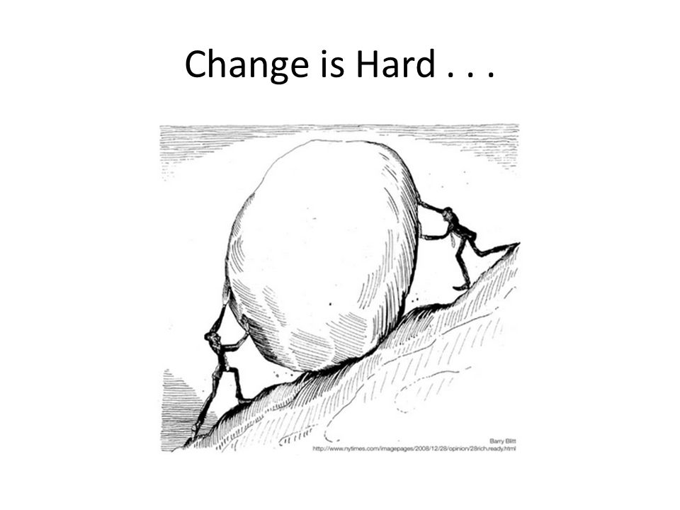 Change is Hard . . .