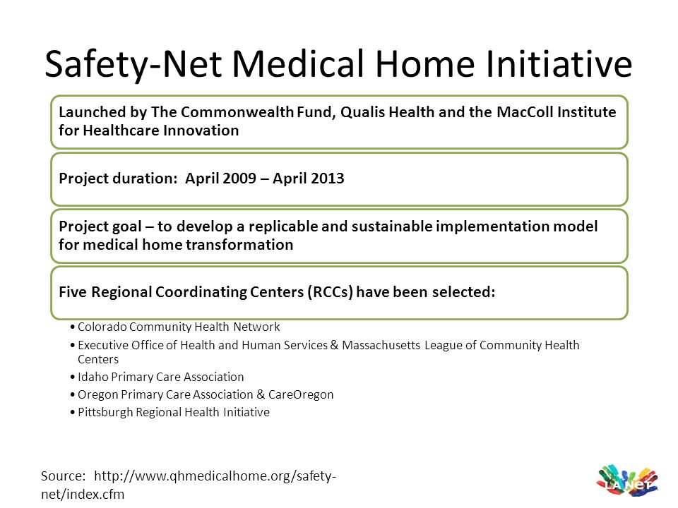 Safety-Net Medical Home Initiative