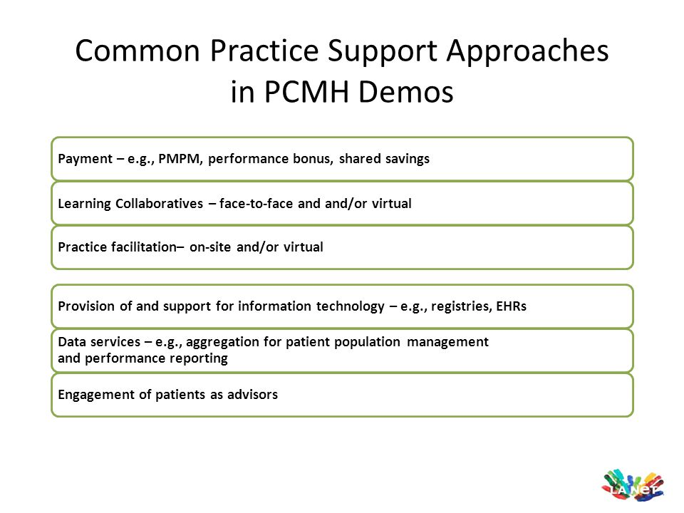 Common Practice Support Approaches in PCMH Demos