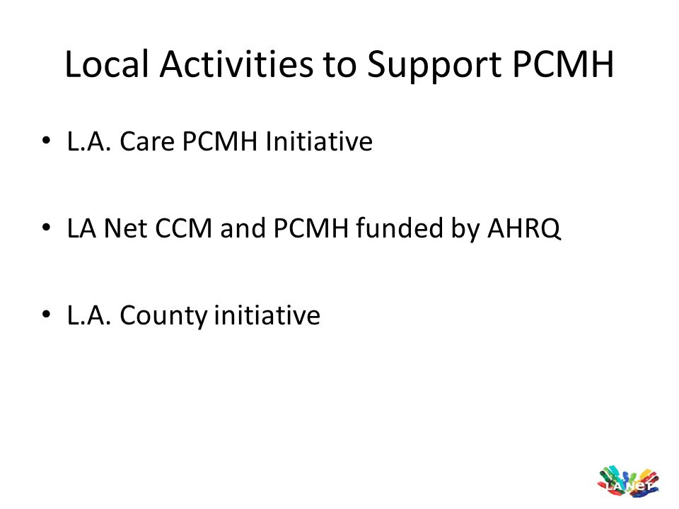 Local Activities to Support PCMH