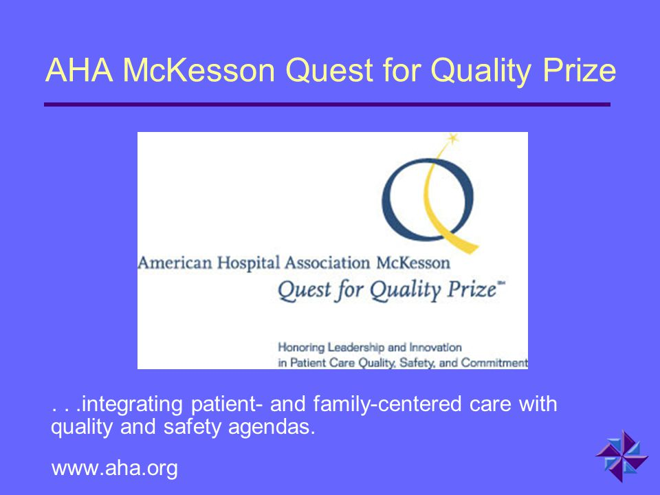 AHA McKesson Quest for Quality Prize