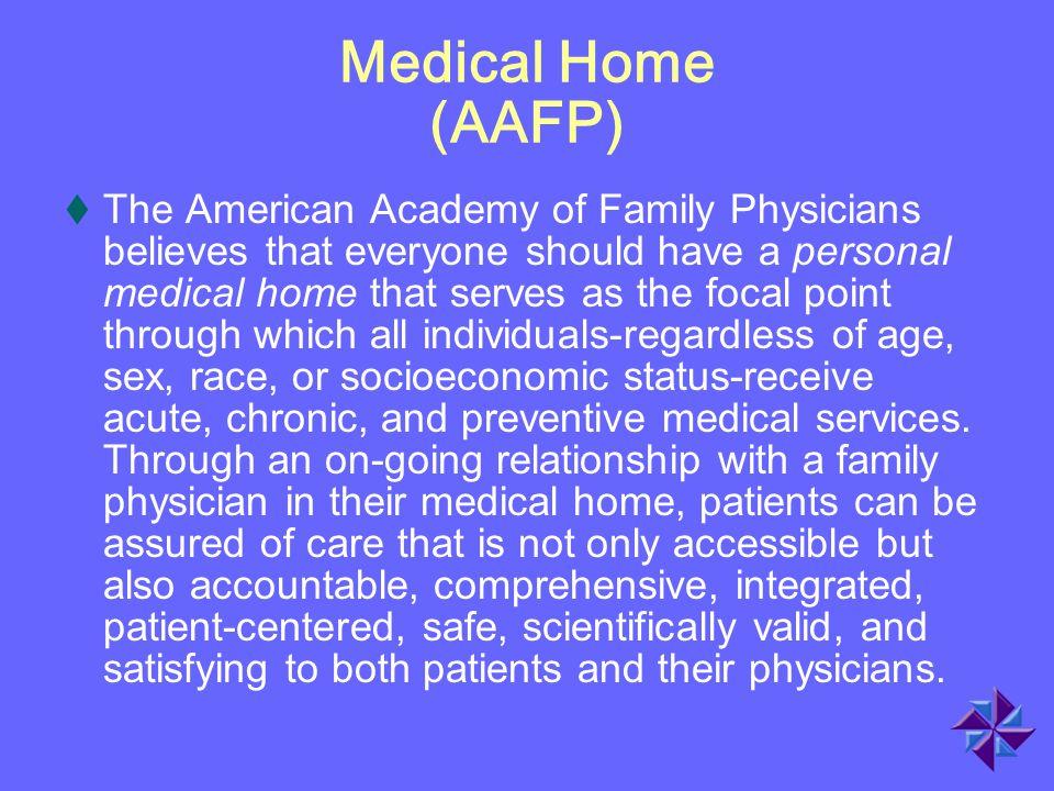 Medical Home (AAFP)