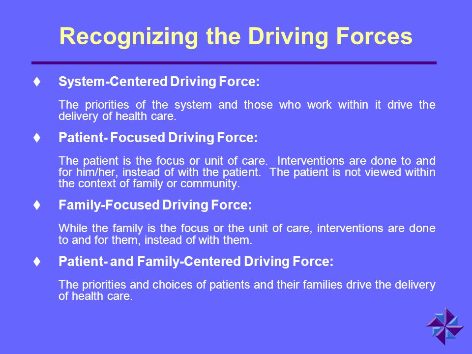 Recognizing the Driving Forces