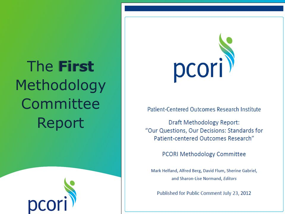 The First Methodology Committee Report
