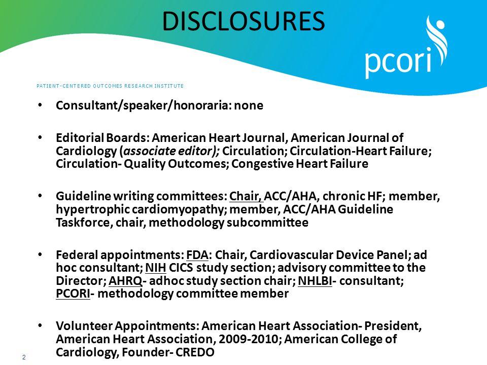 DISCLOSURES Consultant/speaker/honoraria: none