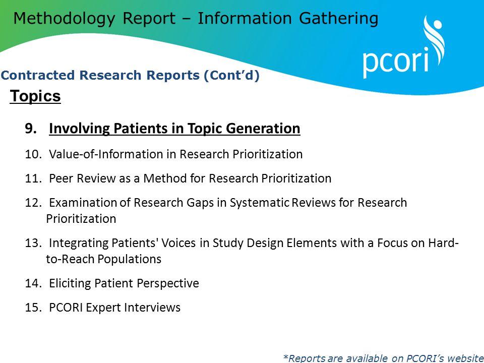 Methodology Report – Information Gathering