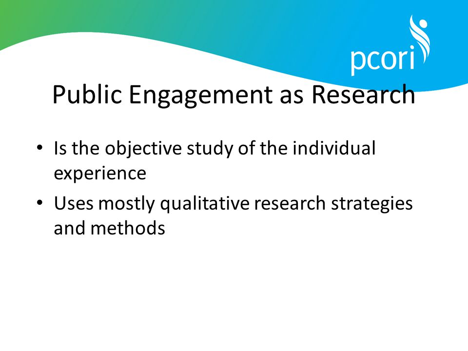 Public Engagement as Research