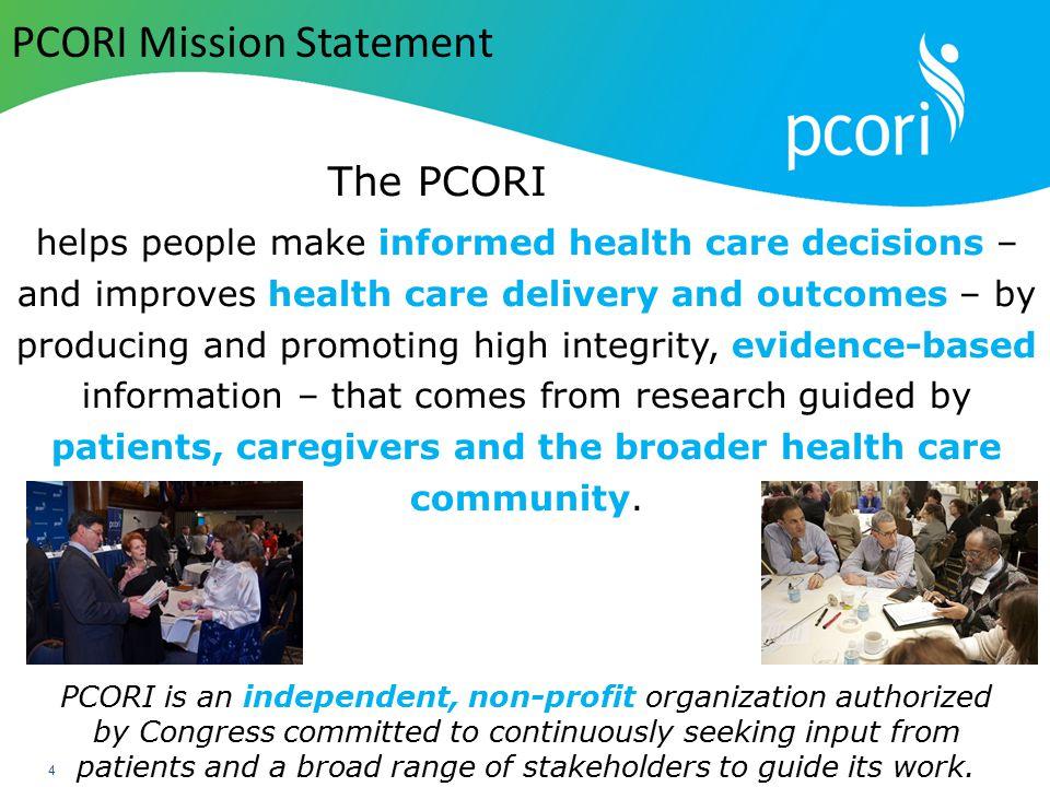 PCORI Mission Statement