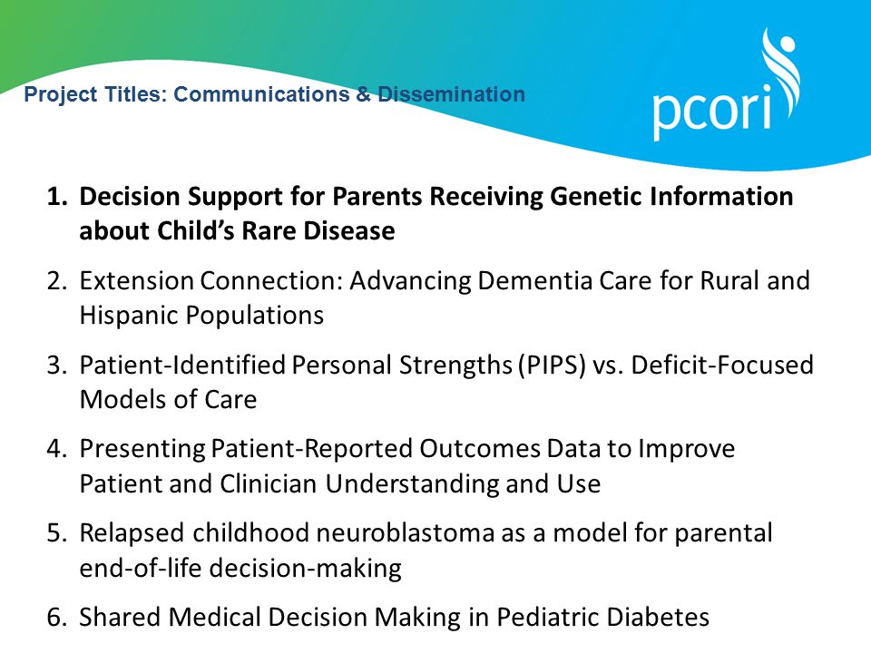 Shared Medical Decision Making in Pediatric Diabetes
