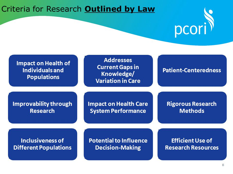 Criteria for Research Outlined by Law
