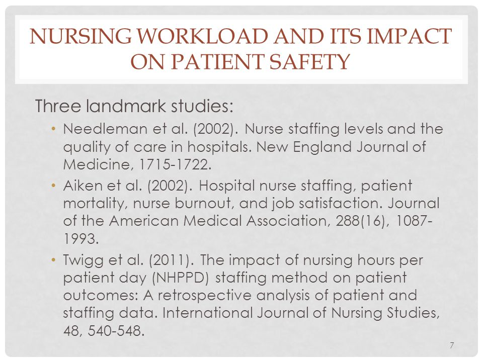 Nursing workload and its impact on patient safety