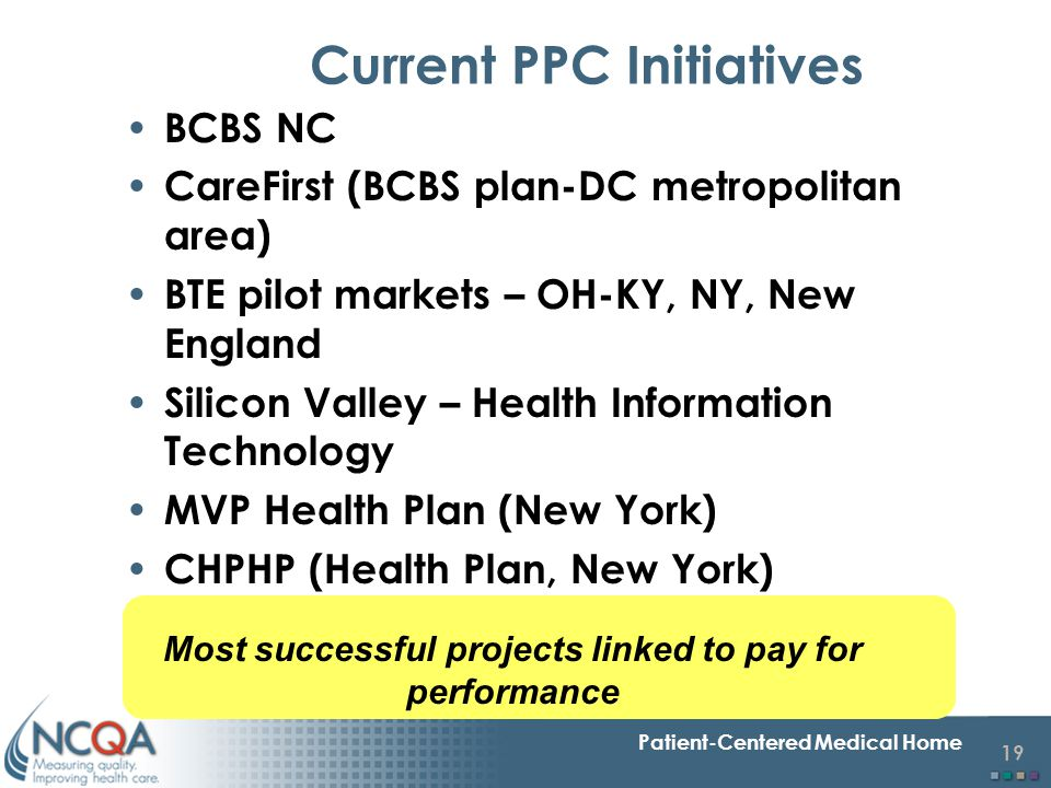Current PPC Initiatives
