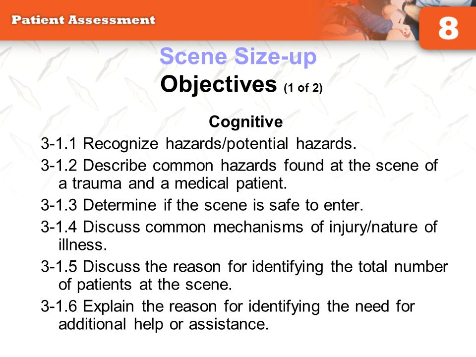 Scene Size-up Objectives (1 of 2)