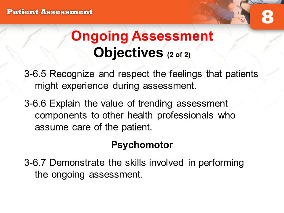 Ongoing Assessment Objectives (2 of 2)