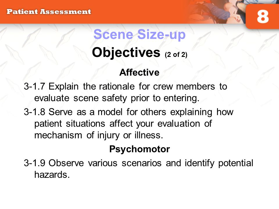 Scene Size-up Objectives (2 of 2)