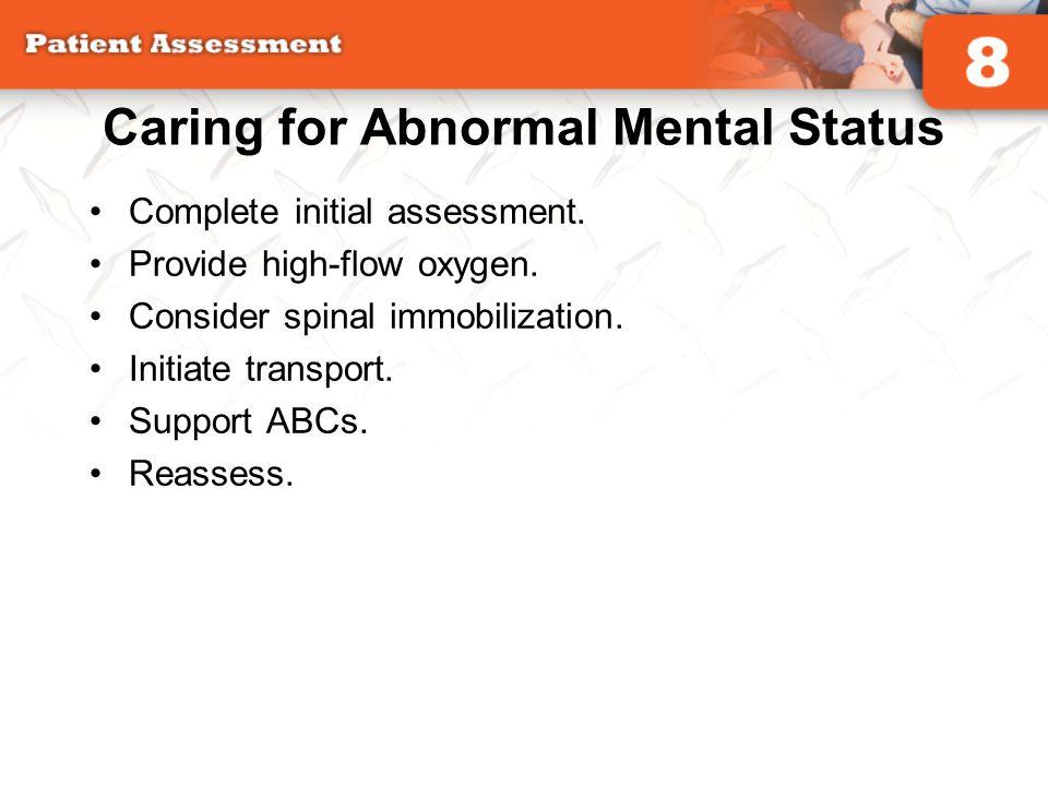Caring for Abnormal Mental Status