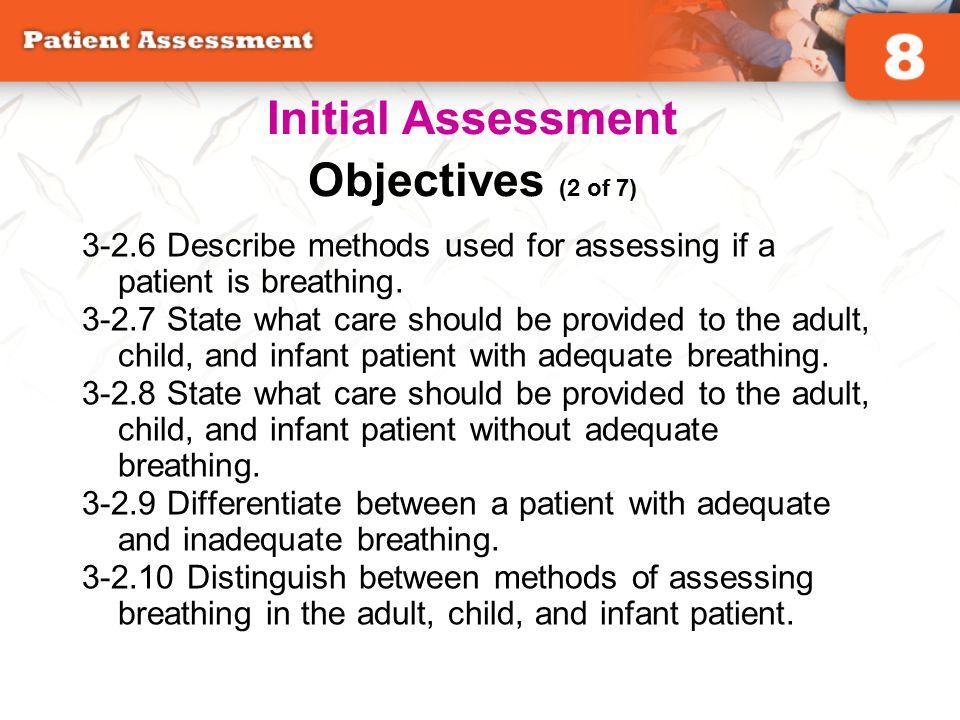 Initial Assessment Objectives (2 of 7)