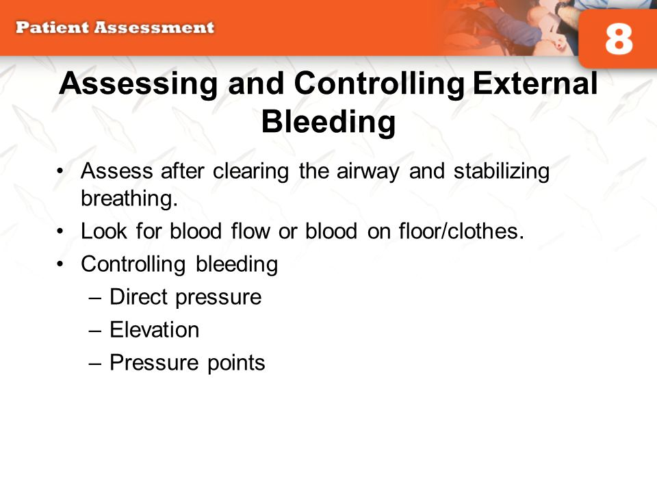 Assessing and Controlling External Bleeding