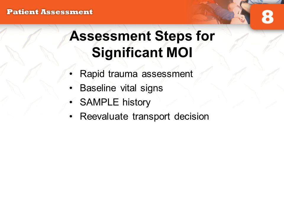 Assessment Steps for Significant MOI