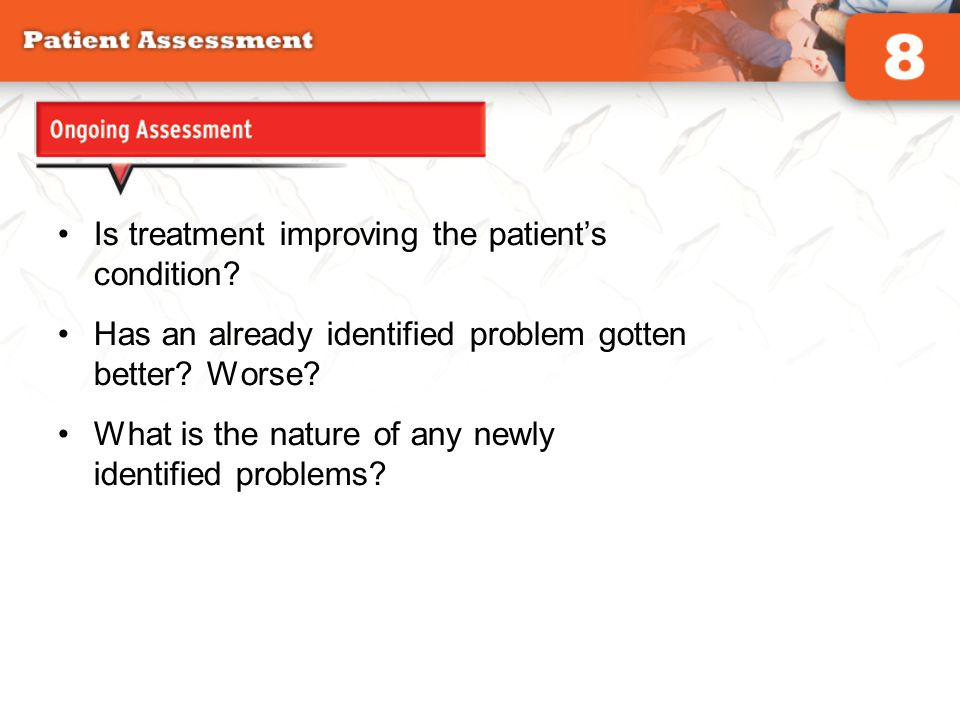 Is treatment improving the patient's condition