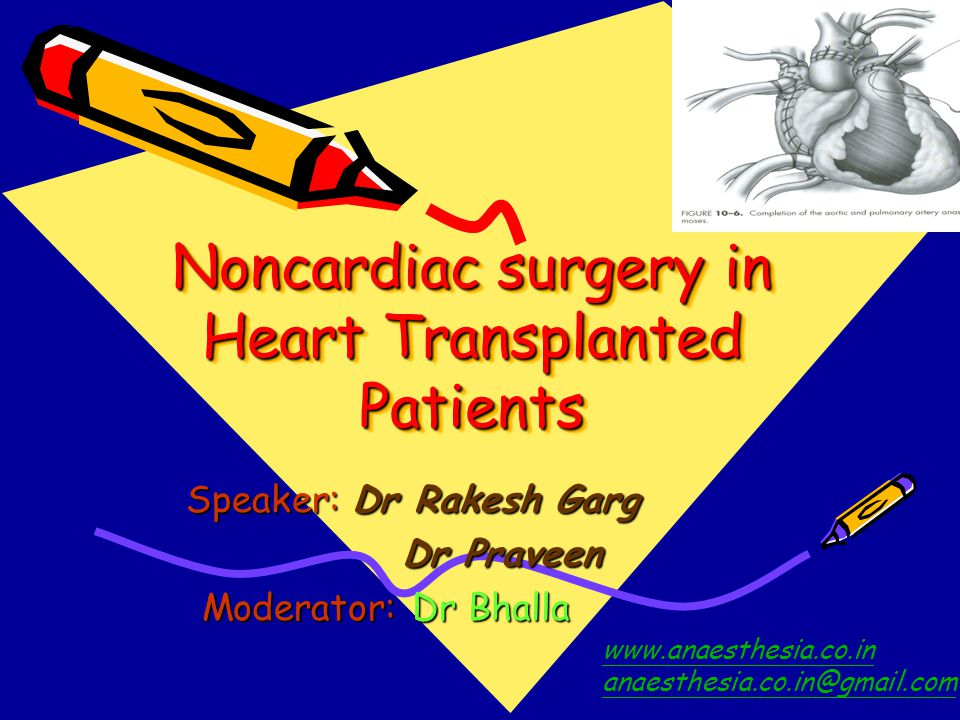 Noncardiac surgery in Heart Transplanted Patients