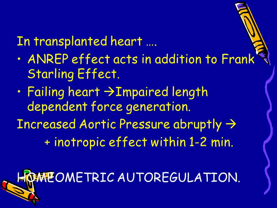 In transplanted heart ….