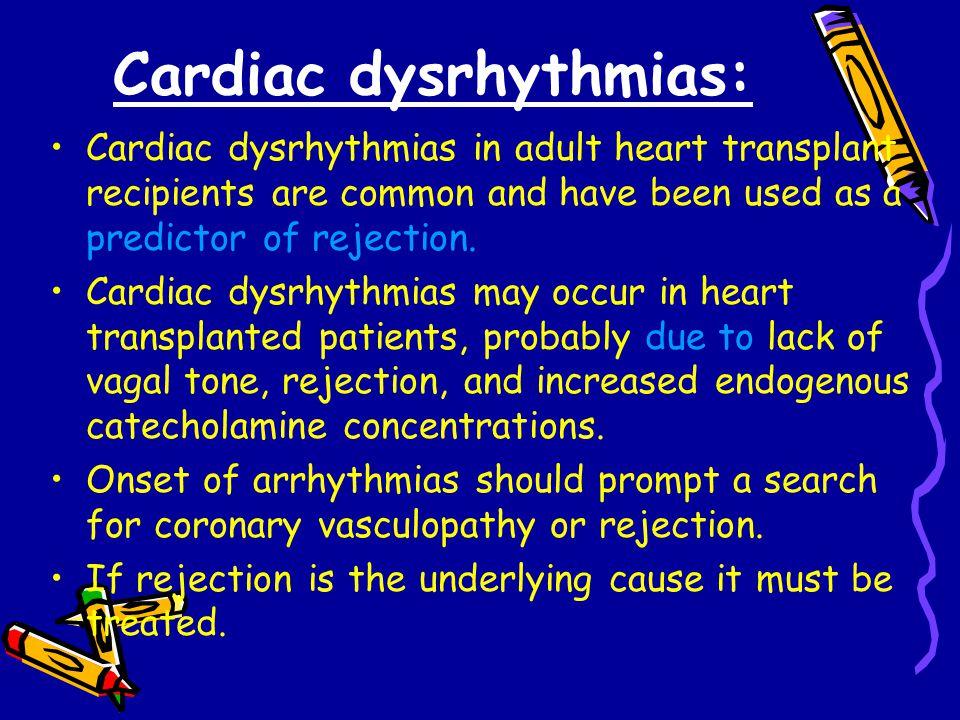 Cardiac dysrhythmias: