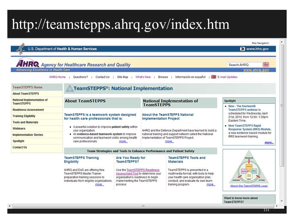 http://teamstepps.ahrq.gov/index.htm