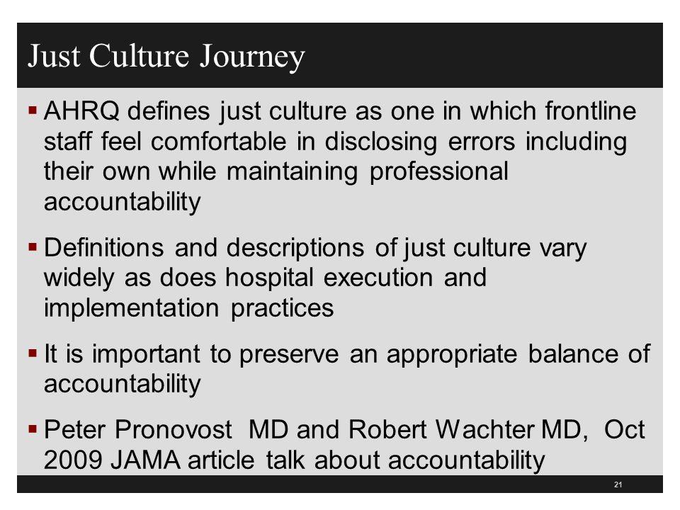 Just Culture Journey