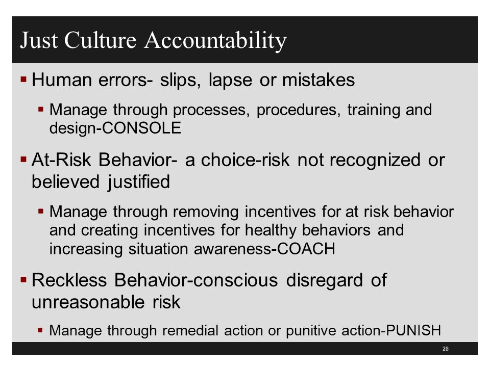 Just Culture Accountability
