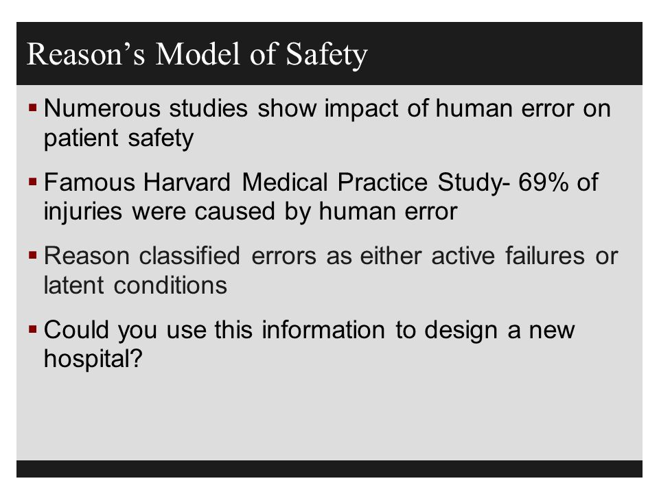 Reason's Model of Safety
